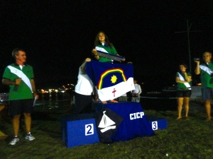 Marina Hutzler, segundo lugar feminino, vencedora do troféu rotativo de campeã norte/nordeste, por ser a primeira nordestina.