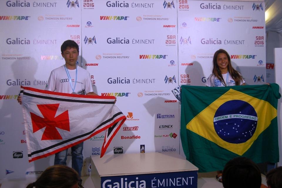 Categoria veterano: 11º Nicolas Bernal (BRA YCSA) e 12º Marina da Fonte (BRA CIC)