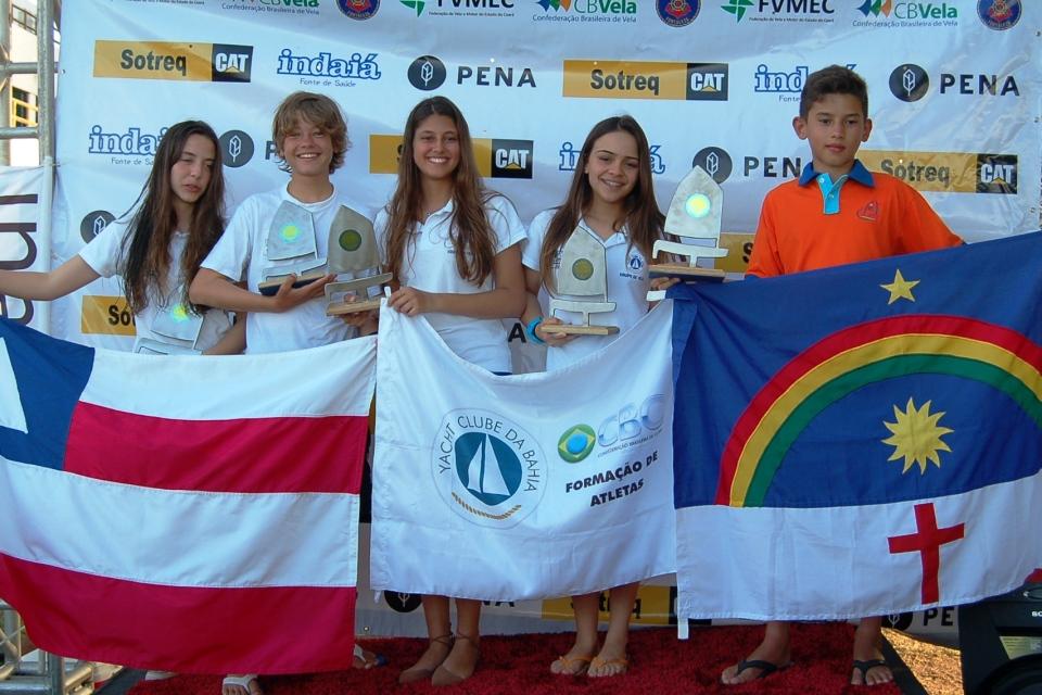 Cinco primeiros colocados de cada categoria estreante.