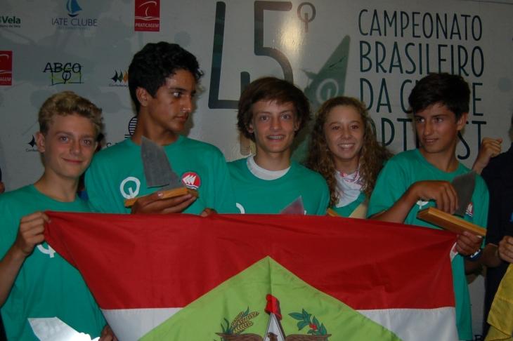 Premiação campeonato de equipes - Equipe Santa Catarina 1