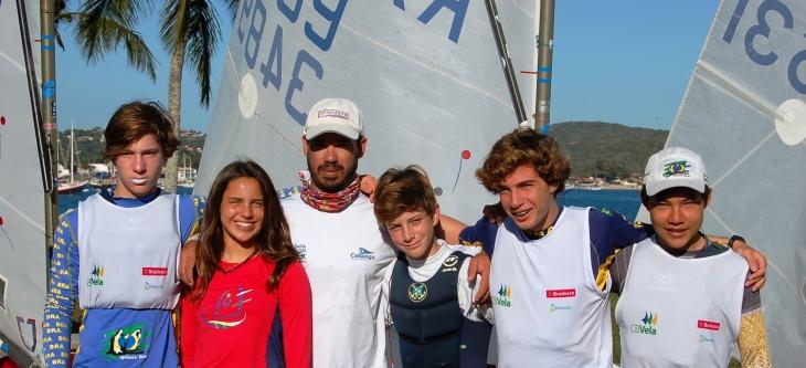 Bernardo, Marina, Júnior (técnico), Leonardo, Luiz Otávio e Nicolas
