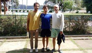 Gabriel Melchert, Nicolas Bernal e Eduardo Melchert